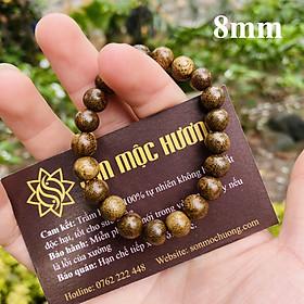 [TẶNG 1 HẠT DỰ PHÒNG] Vòng tay trầm hương tốc phong thủy tròn đơn nữ 8mm 21 hạt Sơn Mộc Hương mang lại may mắn, bình an và tài lộc cho người đeo