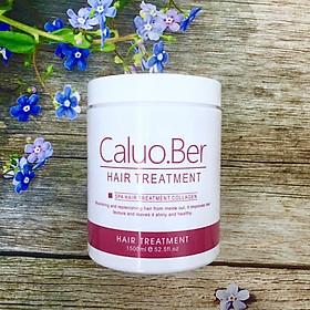 Dầu hấp ủ tóc Caluo.Ber Collagen Hair Spa Treatment siêu phục hồi mềm mượt tóc Pháp 1500ml-2