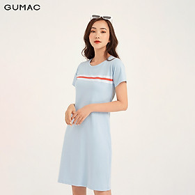 Đầm in sọc ngang ngực GUMAC DB1131