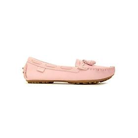 Giày Mọi Nữ Da Bò Nơ Sulily M01-II17HONG