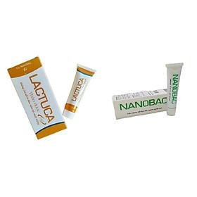 [BỘ SẢN PHẨM] Gel bôi Nano Bạc - tuýp 20g làm sạch da, kháng khuẩn, hạn chế vi khuẩn phát triển& Thảo dược chăm sóc miệng LACTUCA làm dịu niêm mạc lợi, giảm đau, hết nhiệt - tuýp 10g