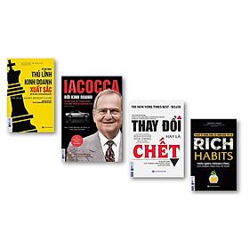 Combo Iacocca – Đời kinh doanh, Bí mật phía sau thành công của ông trùm xe hơi nước Mỹ + Thay đổi hay là chết – Bí quyết giúp các thương hiệu huyền thoại luôn dẫn đầu + Rich Habits + Để trở thành thủ lĩnh kinh doanh xuất sắc (Tặng bookmark độc đáo CR)