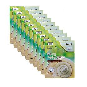 Combo 10 Mặt nạ chiết xuất từ dịch nhầy ốc sên 3W CLINIC Hàn Quốc 23mlx10