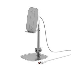 Giá đỡ điện thoại và máy tính bảng Baseus, hỗ trợ sạc không dây nhanh 15W, iPhone iPad Samsung xiaomi-Sản phẩm nhập khẩu