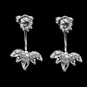Bông tai bạc - Khuyên tai bạc - Hoa Tai Nữ Bạc Hiểu Minh HT193 chiếc lá