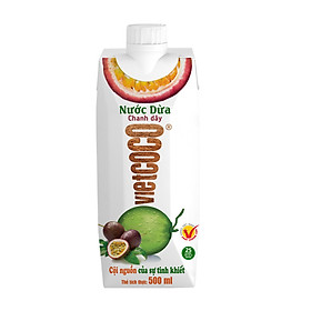 Nước dừa - chanh dây Vietcoco hộp 500ml