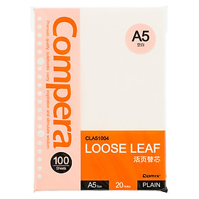 Coix 20-hole loose-leaf refill A5 100 blank office supplies CLA51004 orange