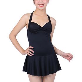 Bikini 1 Mảnh Monica Váy Xòe BIT 3003 - Đen (Free Size)