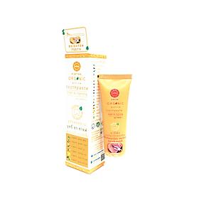 Kem Đánh Răng Thảo Dược Aimthai Organic Toothpaste Plus Vit C Whitening chiết xuất tinh dầu thảo dược organic giúp thơm miệng, làm trắng răng, ngừa mảng bám và giảm nhiệt miệng (Công thức làm trắng Plus Vit C)