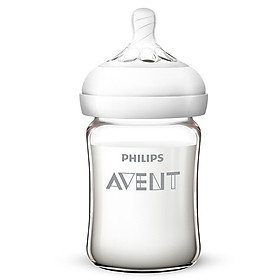 Philips AVENT UK brand AVENT wide-bore glass bottle 240ml pacifier January + SCF679/13 naturally smooth 240 ml