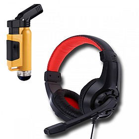 Tai nghe chụp tai G1 kèm mic đàm thoại dành cho Game thủ chống nhiễu, chống ồn tốt + Tặng hộp quẹt bật lửa khò mỏ vịt cao cấp  (màu ngẫu nhiên)