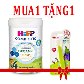 Sữa Hipp số 4 Organic Combiotic HMP 800gr Mẫu Mới tách tem tặng thia ăn dặm silicone Farlin