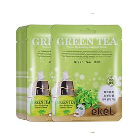 Gói 10 mặt nạ dưỡng da Ekel chiết xuất  Trà xanh (EKEL Green Tea ULtra Hydrating Essence Mask)
