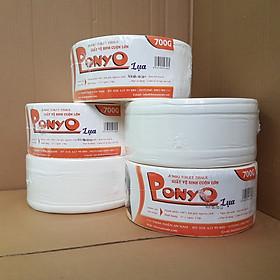 COMBO (5 cuộn) giấy vệ sinh cuộn lớn PONYO 700G LỤA