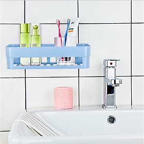 Giỏ treo tường nhà tắm bền đẹp NT02, giá đựng đồ đa năng không cần khoan tường siêu tiện dụng tặng kèm miếng dán chắc khỏe - giao màu ngẫu nhiên
