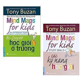 Combo 2 cuốn sách của tác giả Tony Buzan : Bí Quyết Học Giỏi Ở Trường + Các Kỹ Năng Học Giỏi/ Bộ sách giúp trẻ rèn luyện các kĩ năng học tập tốt nhất