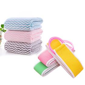 Combo 2 khăn tắm FUNU ( Khăn bông san hô lông cừu+ Khăn tắm chà lưng đa năng) - Giao màu ngẫu nhiên