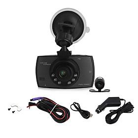 1080P 2.7 Inch HD LCD Double Lens Car Dash Camera Video DVR Cam Recorder
