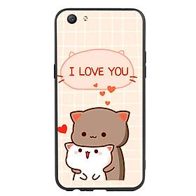 Ốp lưng viền TPU cho điện thoại Oppo F3 - I Love U