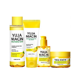 Bộ 4 Sản Phẩm Dưỡng Sáng Da, Mờ Thâm Nám Some By Mi Yuja Niacin Brightening gồm Toner 150ml + Gel Cream 100ml+ Serum 50ml + Sleeping Mask 60g (tặng kèm 1 mặt nạ Dr.Morita)