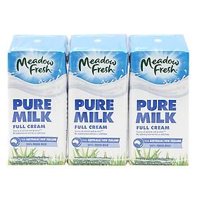 Thùng 24 Hộp Sữa Tươi Nguyên Kem Meadow Fresh (200ml / Hộp)