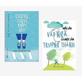 Combo 2 cuốn:  Mỗi Lần Vấp Ngã Là Một Lần Trưởng Thành + Dũng Cảm Tiến Lên - 7 Bước Thay Đổi Bản Thân