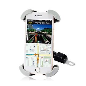 Giá Đỡ Điện Thoại Xe Máy ROBOT RT-MH01 – Gắn Kính Chiếu Hậu, Tương Thích Smartphones Màn Hình 4.0-5.5 Inch – HÀNG CHÍNH HÃNG