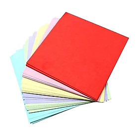 100 Sheets 10 Colors Double Sided Folding Origami Papers Arts Crafts 20x20cm