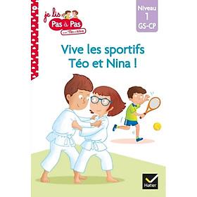 Sách tập đọc tiếng Pháp - Téo et Nina niveau 1 - Vive les sportifs!