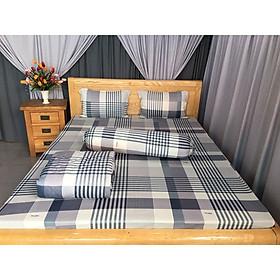 ra drap ga trải giường bộ đẹp sọc đơn giản bộ ra và 3 áo gối