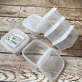 Set 3 hộp chia đồ ăn dặm cho bé NAKAYA 200ml + tặng 5 túi zipper 10x15cm
