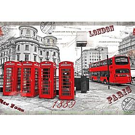 Tranh xếp hình 1000 mảnh bằng gỗ  London