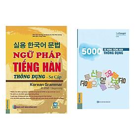 Combo Sách Học Tiếng Hàn: Ngữ Pháp Tiếng Hàn Thông Dụng - Sơ Cấp (Dùng APP MCBooks) + 5000 Từ Vựng Tiếng Hàn Thông Dụng / Sách Học Ngoại Ngữ Hay (Tặng Kèm Bookmark Thiết Kế Happy Life)