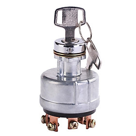 6 Foot Ignition Switch with Two Keys Ignition Starter Key Switch for Car Tractor Excavator