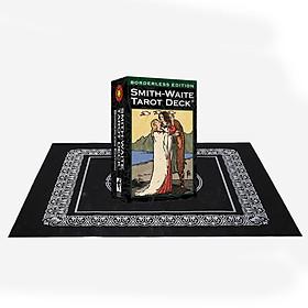 Combo Bộ Bài Bói Smith Waite Tarot – Borderless Edition Cao Cấp và Khăn Trải Bàn Tarot