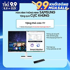 Màn Hình Thông Minh Smart Monitor Samsung LS27AM501NEXXV 27inch/Full HD (1920x1080) 8ms/60Hz/VA/Tích Hợp Loa/Hệ Điều Hành Tizen - Hàng Chính Hãng
