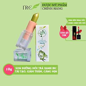 Son dưỡng môi IRC LIPBALM Trà Xanh ăn được tái tạo căng mịn, giảm nứt nẻ giảm thâm và làm hồng môi tự nhiên 10g