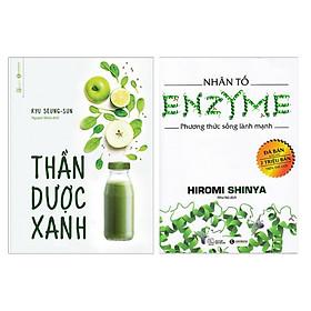 Combo 2 Cuốn Sách Bí Quyết Sống Khỏe: Thần Dược Xanh + Nhân Tố Enzyme - Phương Thức Sống Lành Mạnh ( Bộ Sách Y Học Cực Hay / Tặng Kèm Bookmark Happy Life)
