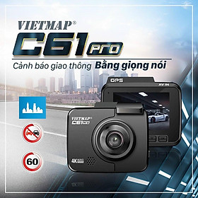 Camera hành trình VIETMAP C61 Pro + thẻ 32GB - Trải nghiệm hình ảnh sắc nét - Nâng cấp âm thanh - Kết nối VIETMAP REC.