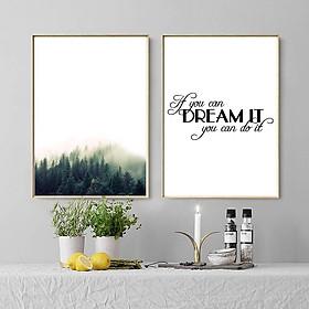 Bộ 2 tranh Giấc mơ và phong cảnh