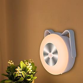 Đèn Cảm Ứng Đèn LED Cảm Biến Chuyển Động Có Giá Đỡ Hình Tai Mèo