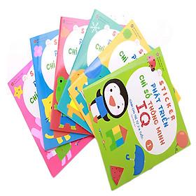 Combo Sticker Phát Triển Chỉ Số Thông Minh IQ dành Cho Trẻ Từ 2-6 Tuổi (Gồm 6 Quyển)