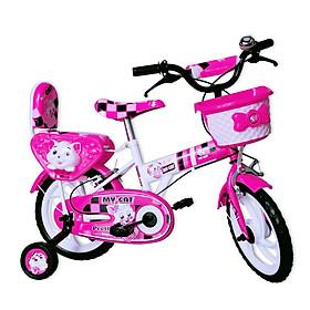 Xe đạp trẻ em Nhựa Chợ Lớn 12 inch K88 - M1611-X2B, Sườn xe bằng sắt chịu lực, Nhựa chính phẩm an toàn, Sản xuất tại Việt Nam - Hàng chính hãng