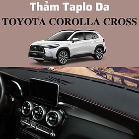 Thảm Taplo Da Vân Carbon Cao Cấp Cho Xe Ô Tô Toyota Corolla Cross - thảm da loại 1