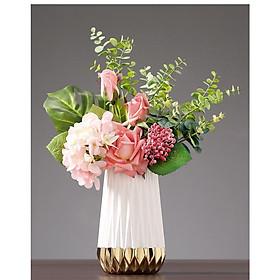 Bình, Lọ hoa gốm sứ hiện đại cao cấp decor, trang trí, trang trí cắm hoa Tết