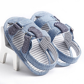 Summer Baby Girls Fashion Denim Blue Color Cute Breathable Hollow Out Soft Anti-skid Toddler Kids Sandal