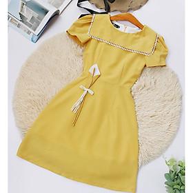 Đầm nữ vàng thiết kế công sở Tôn Dáng Sáng Da