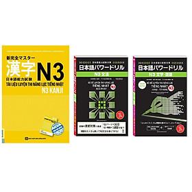 Combo Combo Bộ đề luyện thi năng lực tiếng Nhật – N3 Kanji từ vựng , N3 Ngữ pháp+Tài Liệu Luyện Thi Năng Lực Tiếng Nhật N3- Kanji