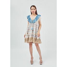 Đầm Boho Phối Ren Savage Culture SC38602-BU