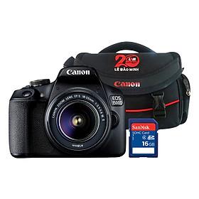 Máy Ảnh Canon EOS 1500D + Lens EF-S 18 - 55mm II - Hàng Chính Hãng (Tặng Kèm Thẻ Nhờ Và Túi Đựng Máy Ảnh)